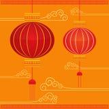 Asiatisk lykta och festival Royaltyfri Foto