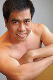 asiatisk male modell Royaltyfria Foton