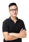 Asiatisk man med exponeringsglas Royaltyfria Foton