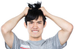 Asiatisk man - som isoleras på vit bakgrund Royaltyfri Foto
