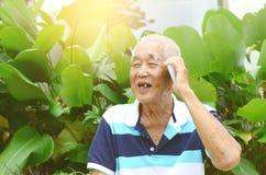 asiatisk manpensionär Royaltyfria Foton