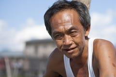 Asiatisk manstående Fotografering för Bildbyråer