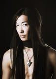 asiatisk manstående Royaltyfri Foto