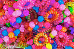asiatisk marknad Scrunchy färg Arkivfoto