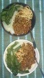 asiatisk mat Fotografering för Bildbyråer