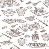 Asiatisk matvektorillustration Royaltyfria Bilder