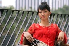 asiatisk modeflicka fotografering för bildbyråer