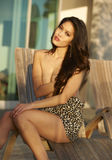 asiatisk model uteplats Royaltyfria Foton
