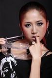 asiatisk modell arkivbild