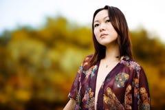 asiatisk modell Royaltyfri Foto