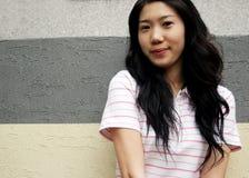 asiatisk modell Royaltyfri Fotografi