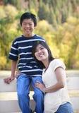 asiatisk moderståendeson Royaltyfri Fotografi