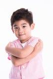 Asiatisk pojke - olika bilder av isolering Royaltyfria Foton