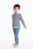 Asiatisk pojke - olika bilder av isolering Arkivbild