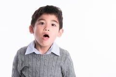 Asiatisk pojke - olika bilder av isolering Royaltyfri Fotografi