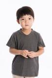 Asiatisk pojkestudiostående Royaltyfri Foto