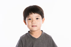 Asiatisk pojkestudiostående Royaltyfria Foton