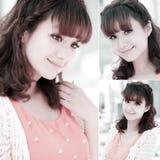 asiatisk söt flickastående Royaltyfri Bild
