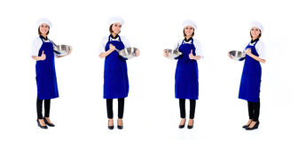Asiatisk serie för kockkvinnaockupation Arkivfoton