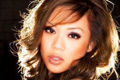 asiatisk sexig flickastående Arkivbild
