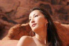 asiatisk sexig kvinna Royaltyfria Foton