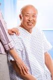asiatisk sjukvårdpensionär Royaltyfria Bilder