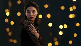 asiatisk skönhet stock video