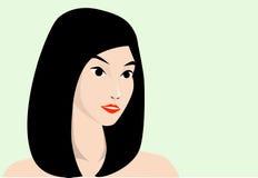 asiatisk skönhet royaltyfri illustrationer