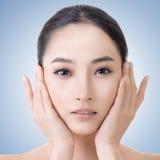 Asiatisk skönhetframsida Arkivfoto