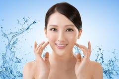 Asiatisk skönhetframsida Royaltyfri Bild