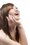 asiatisk skratta kvinna arkivbilder