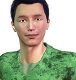 Asiatisk soldat Arkivfoto