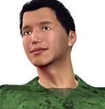 Asiatisk soldat Arkivbild