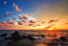 asiatisk solnedgång Royaltyfria Foton