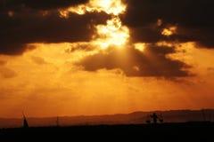 asiatisk solnedgång Arkivbild