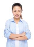 Asiatisk stående för ung kvinna royaltyfria bilder