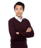 Asiatisk stående för ung man arkivbilder