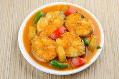 Asiatisk stil för Baracuda fiskcurry. Royaltyfria Foton
