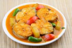 Asiatisk stil 5 för Baracuda fiskcurry. Arkivfoton