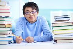 Asiatisk student Royaltyfria Bilder