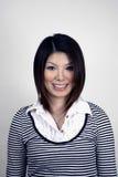 asiatisk studiokvinna royaltyfria foton