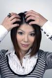 asiatisk studiokvinna arkivfoton