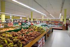 Asiatisk supermarket arkivbild