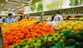 Asiatisk supermarket royaltyfri foto