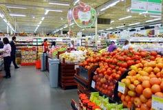 Asiatisk supermarket Arkivfoto