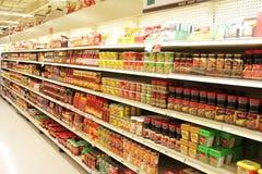 Asiatisk supermarket Royaltyfria Foton