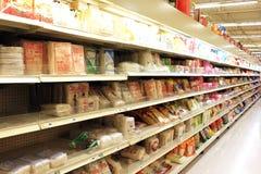 Asiatisk supermarket Royaltyfri Fotografi