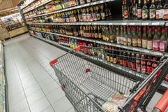 Asiatisk supermarketgång arkivfoton