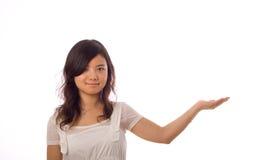 asiatisk tonåringwhite Royaltyfria Bilder