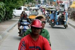 asiatisk trafik Arkivbilder